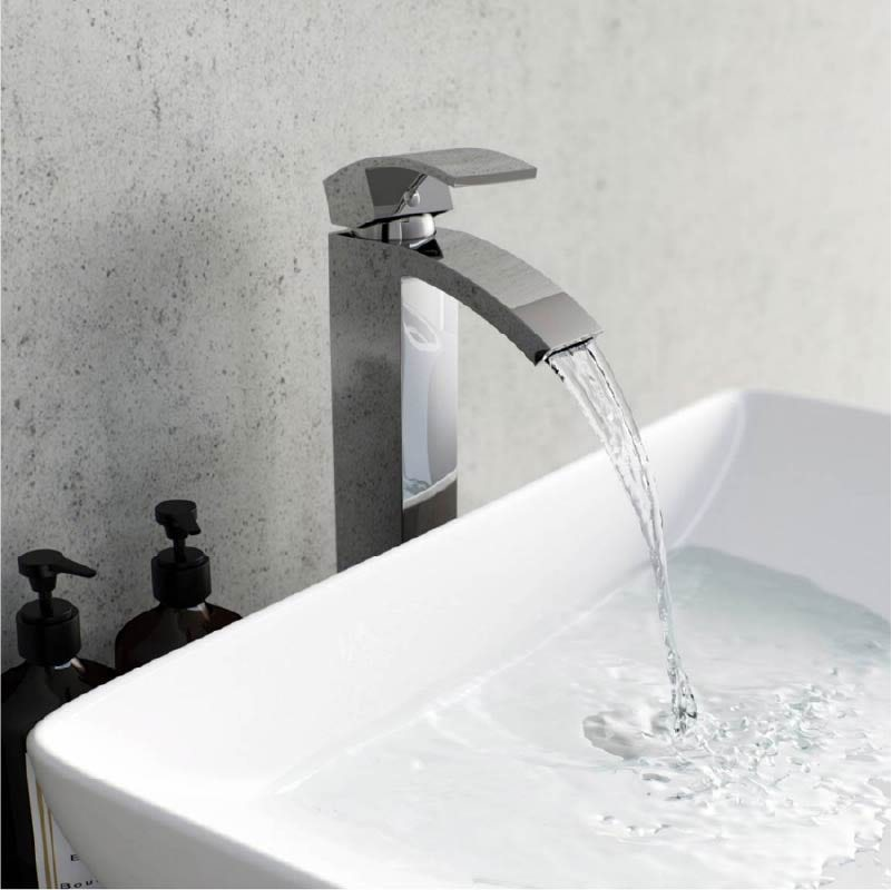 Orchard Wye high rise countertop basin mixer tap