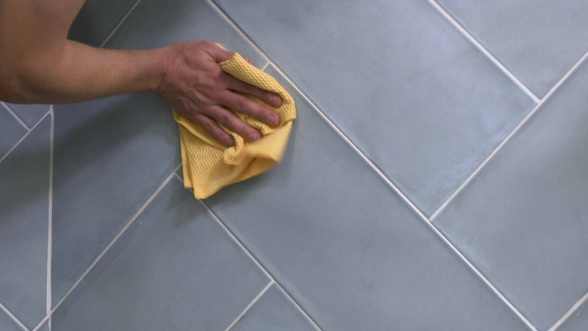 how to regrout tiles 8