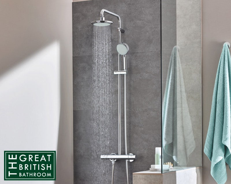 Grohe New Tempesta 160 Cosmopolitan shower system with EcoJoy technology