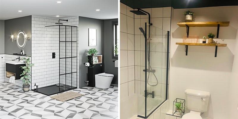 Black shower screens