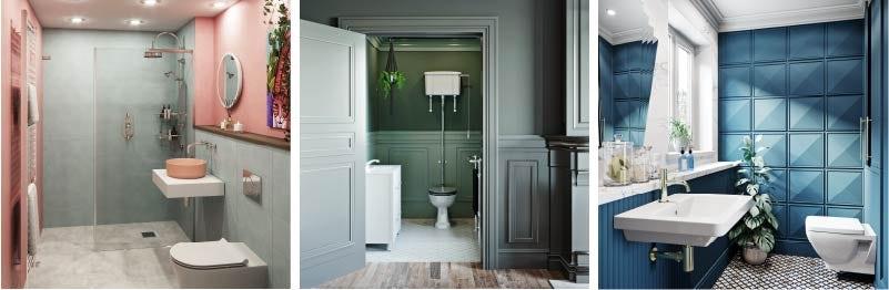 Block Bold Colours Bathroom Trends 2021