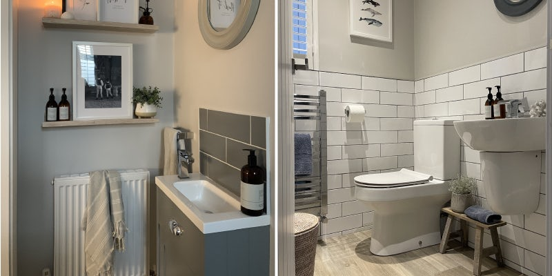 Soft neutrals in small bathrooms