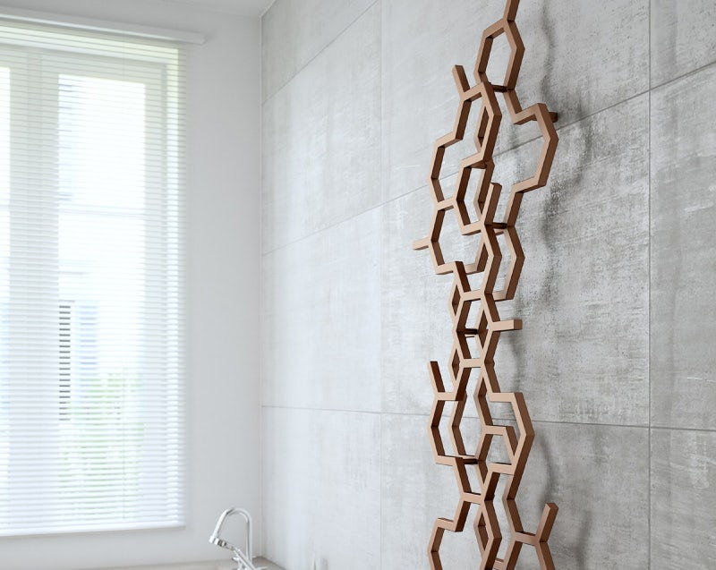 Terma Hex bright copper designer radiator