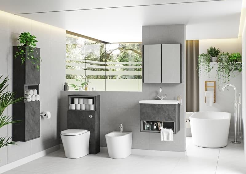 Tate II riven grey bathroom furniture