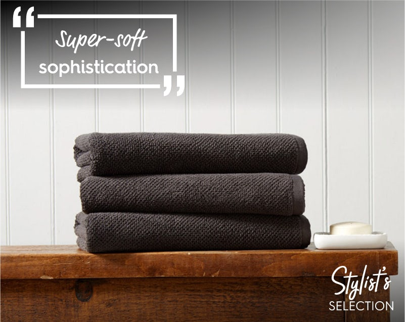 Christy Brixton liquorice towels
