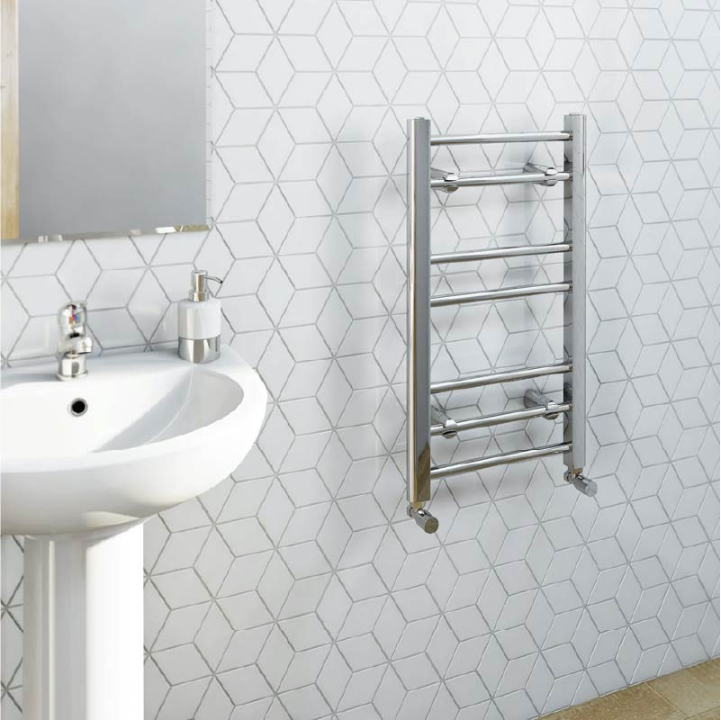 The Heating Co. Chrome heated towel rail