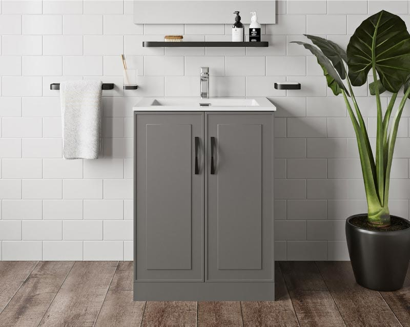 Mode Meier grey floorstanding vanity unit 600mm