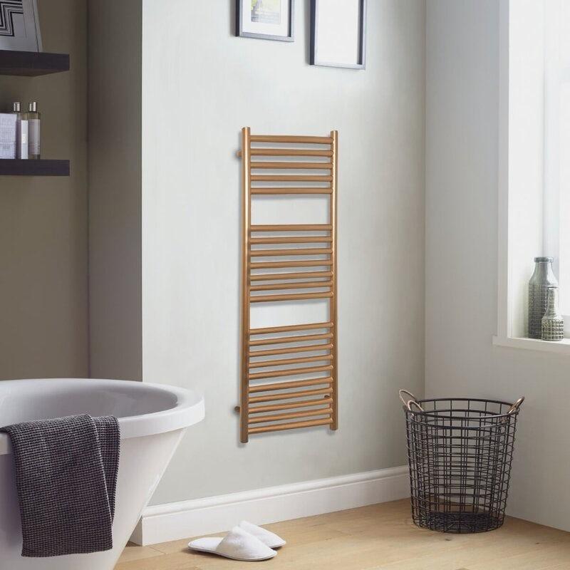 The Heating Co. Mali gold heated towel rail