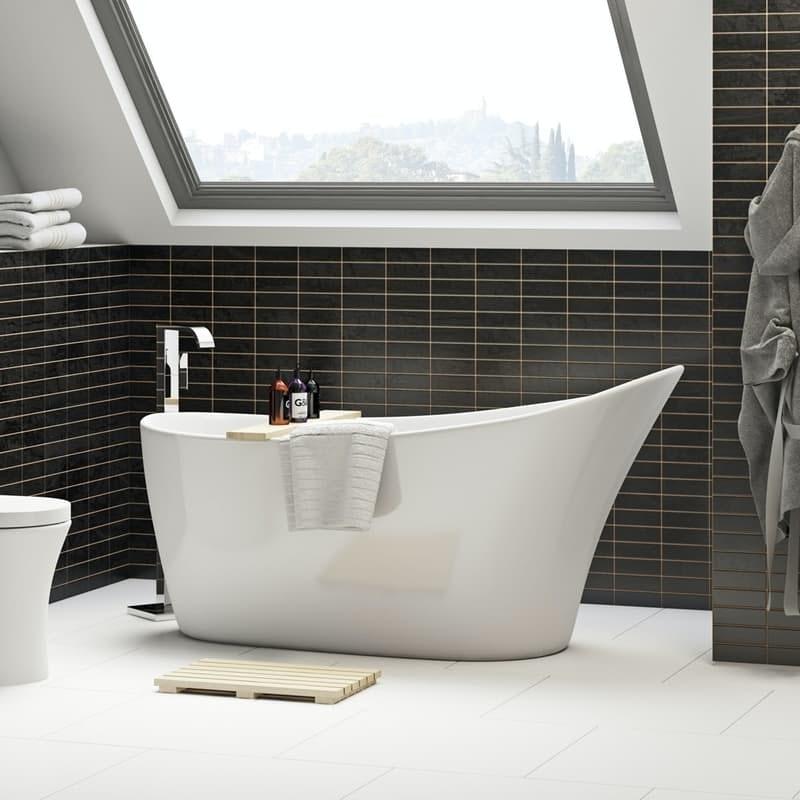 Mode Hardy freestanding single ended slipper bath 1600 x 750
