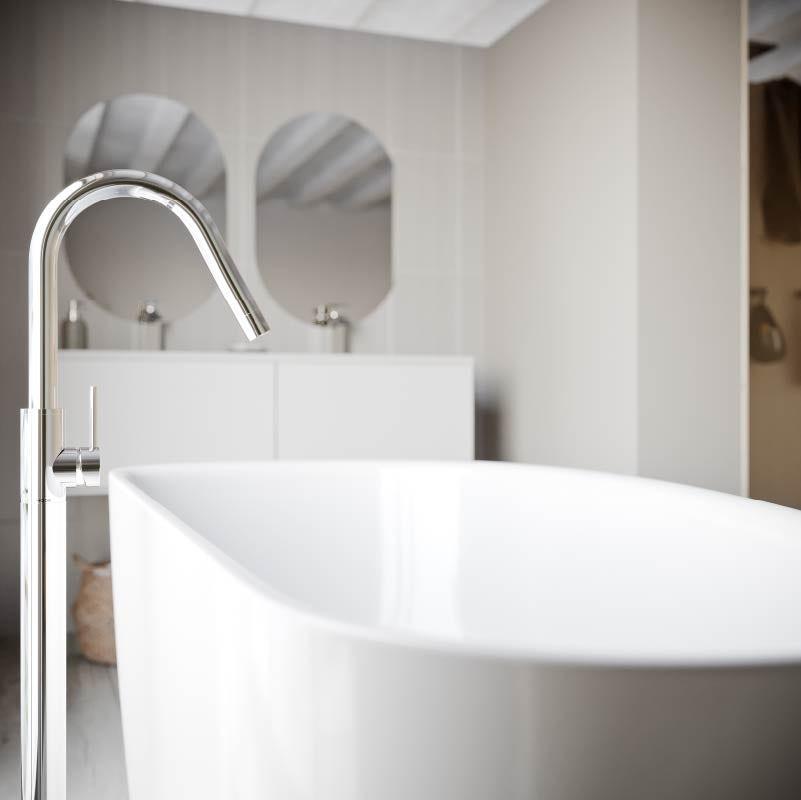 Lagom bathroom—bath tap