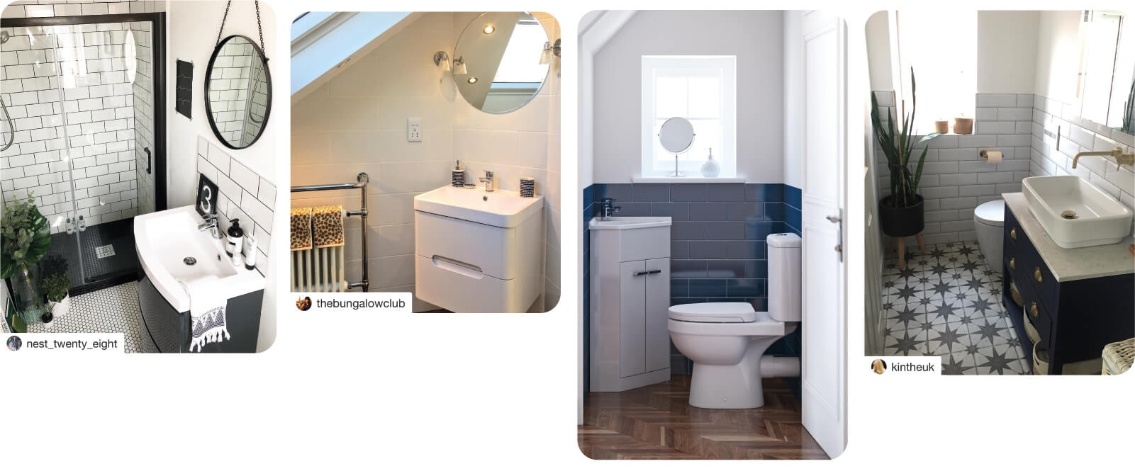 Small bathroom inspiration from VictoriaPlum.com customers