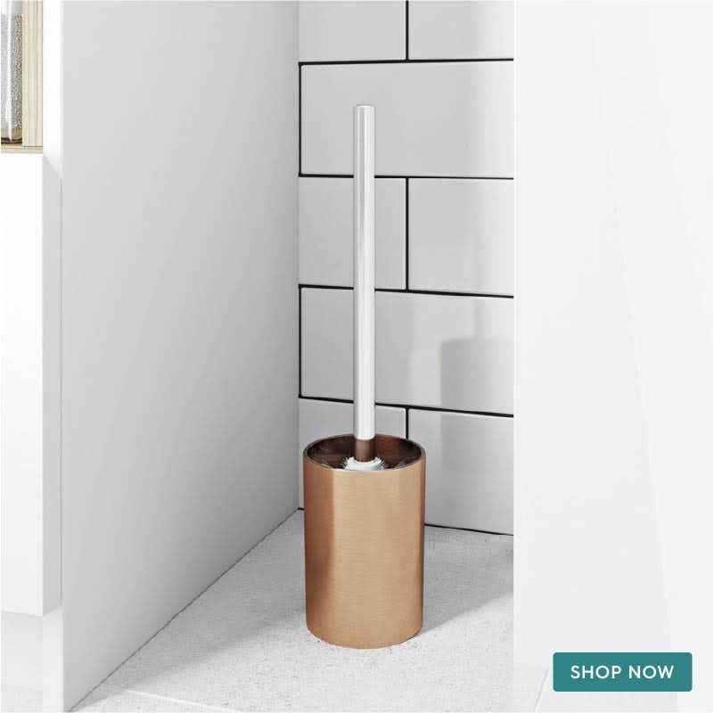 Glaze copper toilet brush and holder