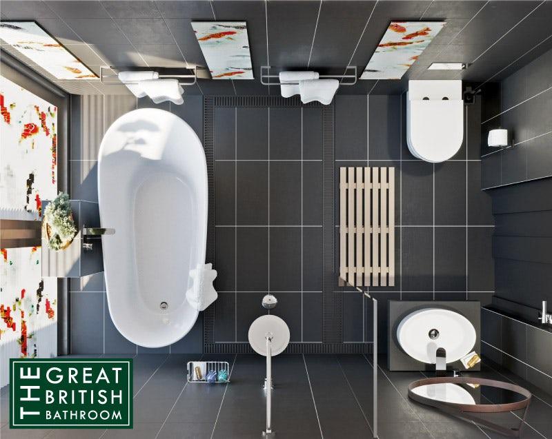 Oriental Spa small bathroom layout