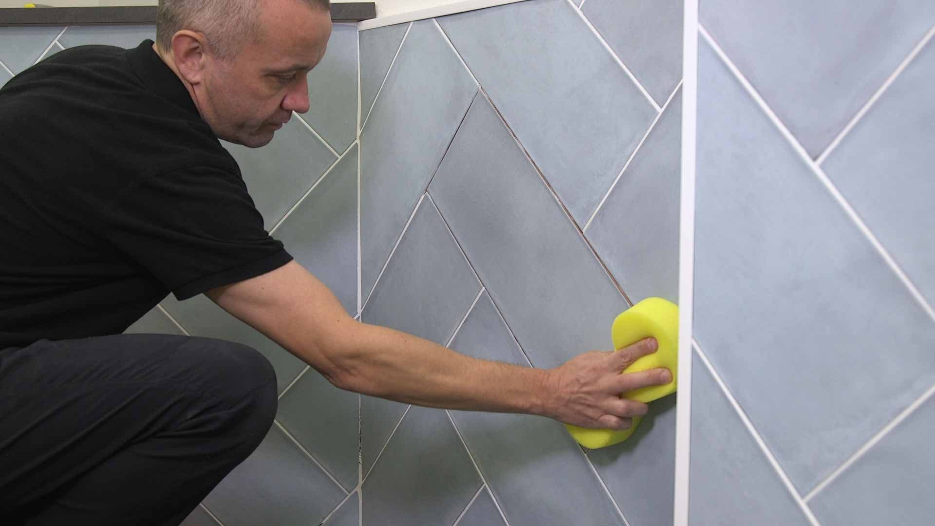 how to regrout tiles 2