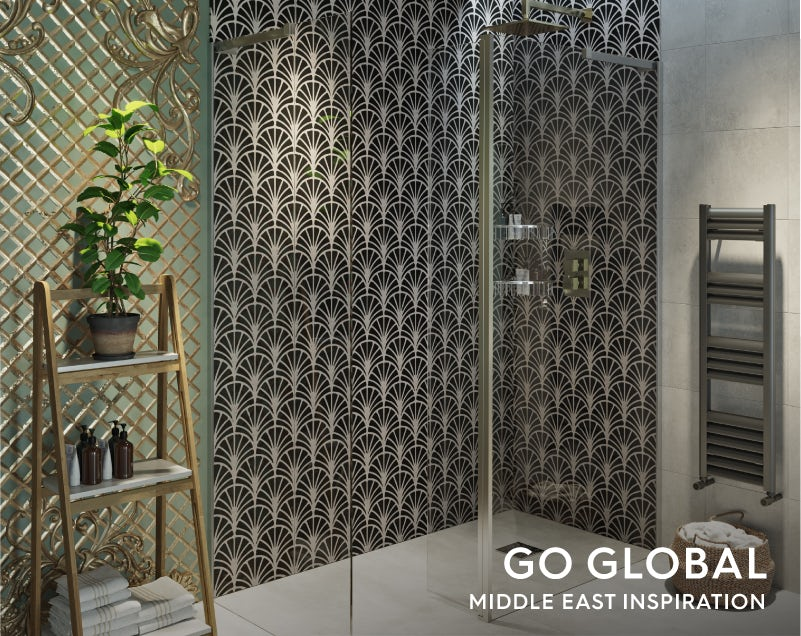 Get the look: Go Global—Middle East bathroom shower