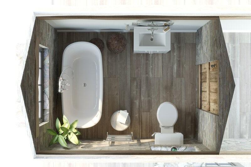 Refined Rustic barn conversion bathroom