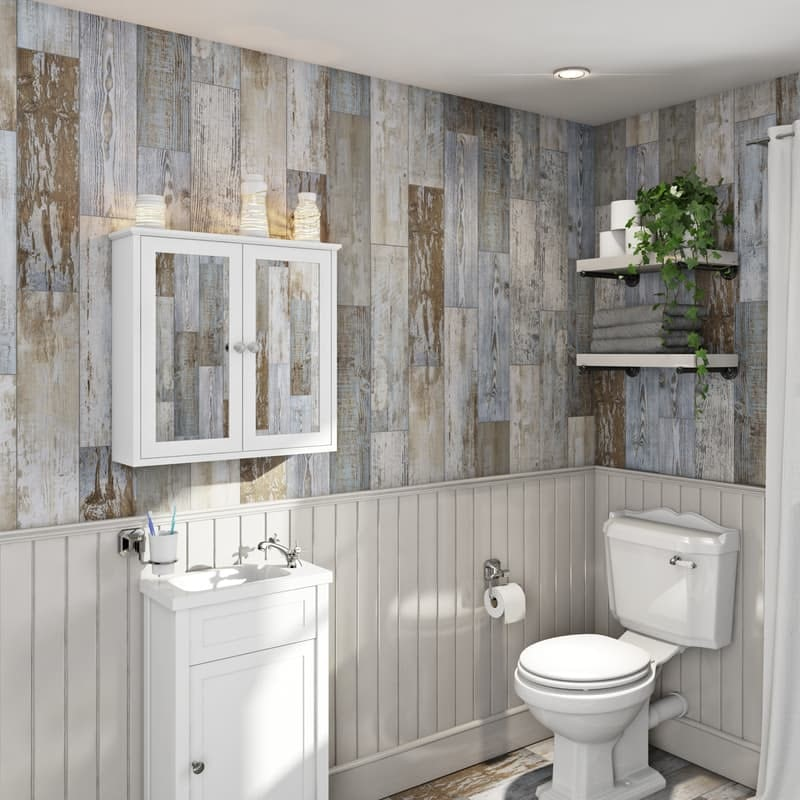 Basswood distressed wood wall tiles