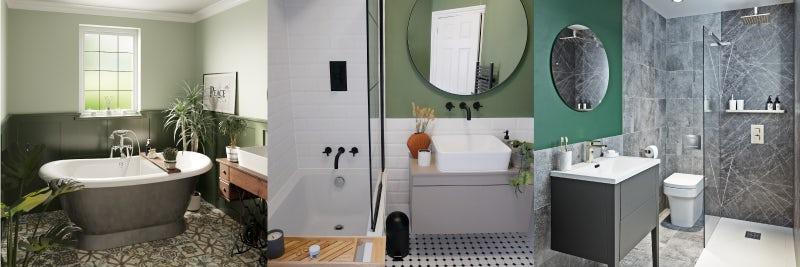 Paint your bathroom walls green