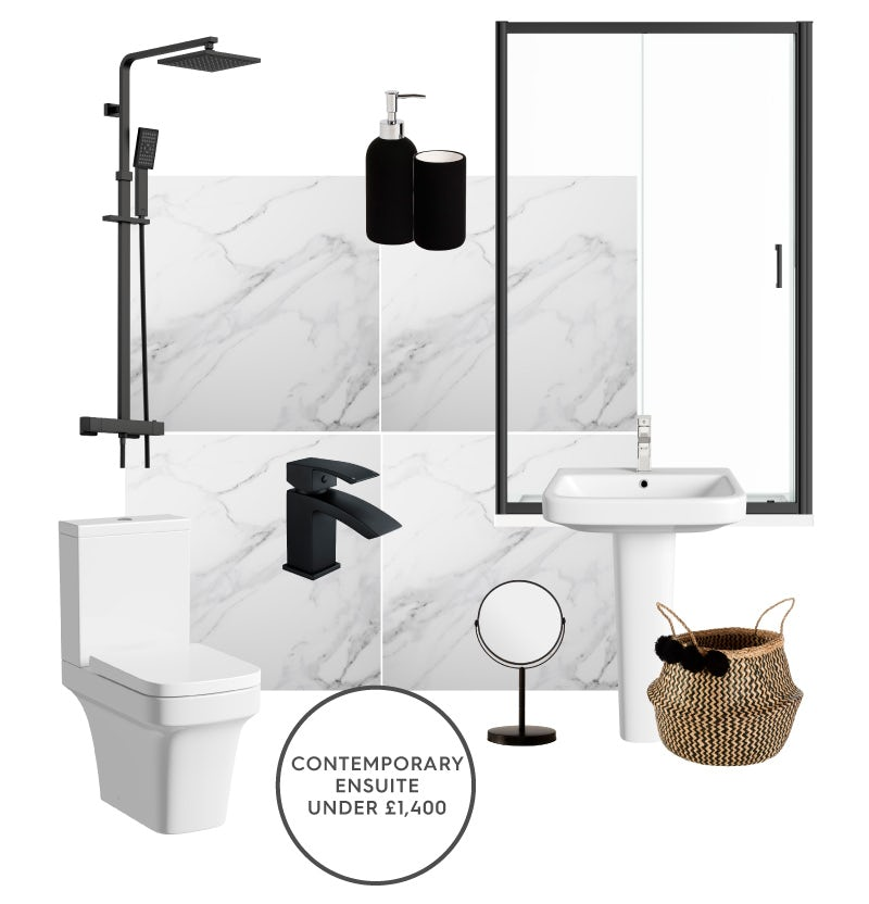 Stylish contemporary ensuite for under £1,400