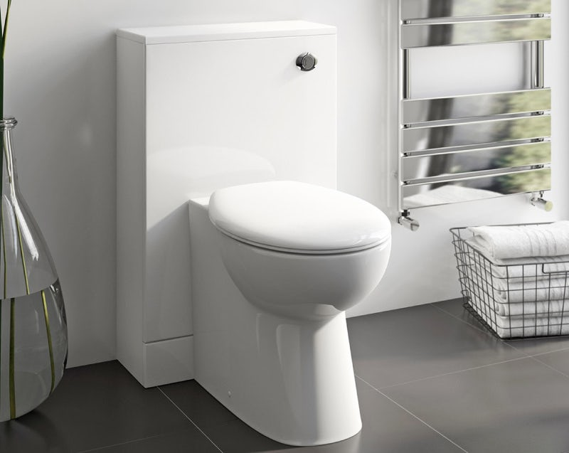 Back to wall toilet with unit