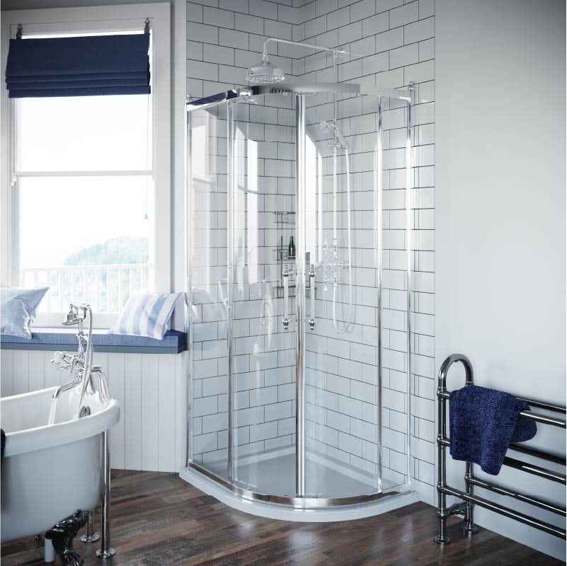 The Harbour nautical bathroom walls and floors