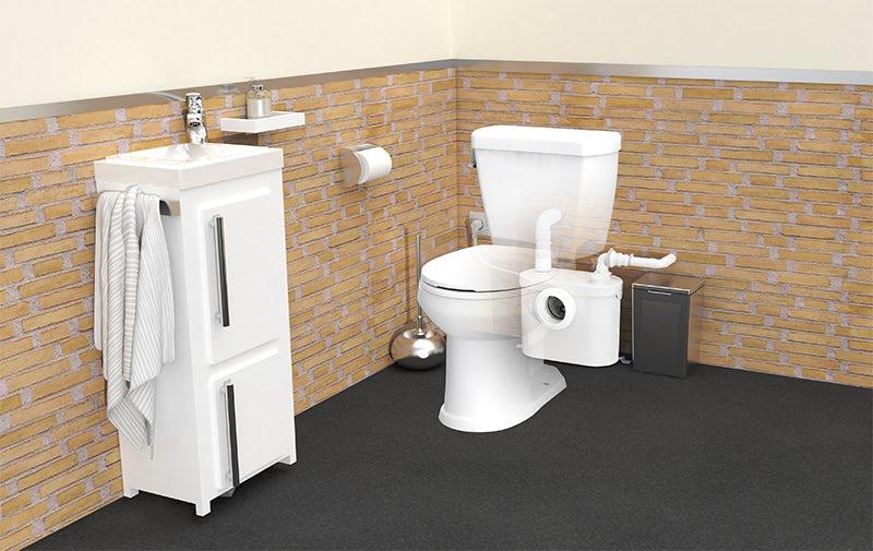 Installing a Saniflo toilet