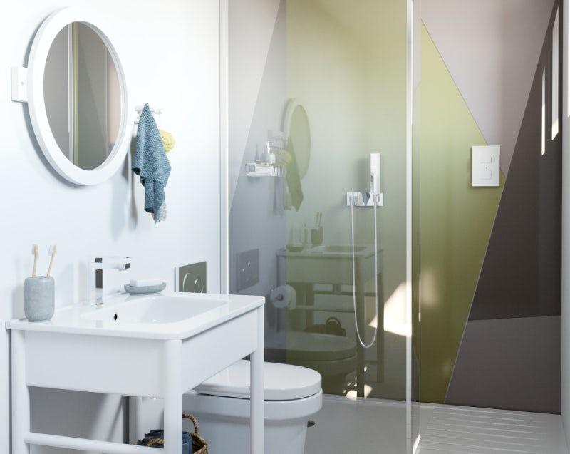 Colourful Creative small bathroom ideas