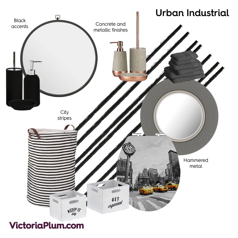 Urban Industrial bathroom ideas mood board