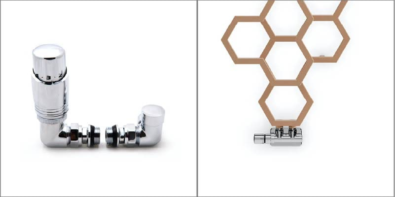 Corner radiator valve & H block radiator valve