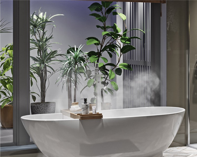 Natural Elements designer bathroom greenery