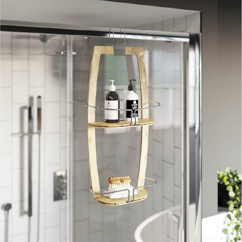 Accents Bamboo double bathroom shelf