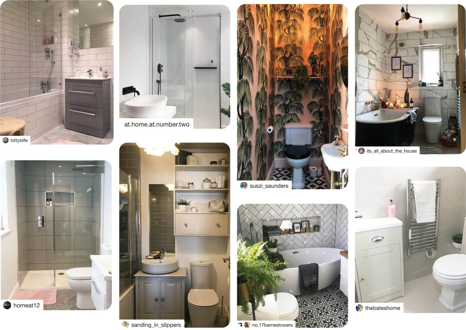 Small bathrooms by VictoriaPlum.com customers