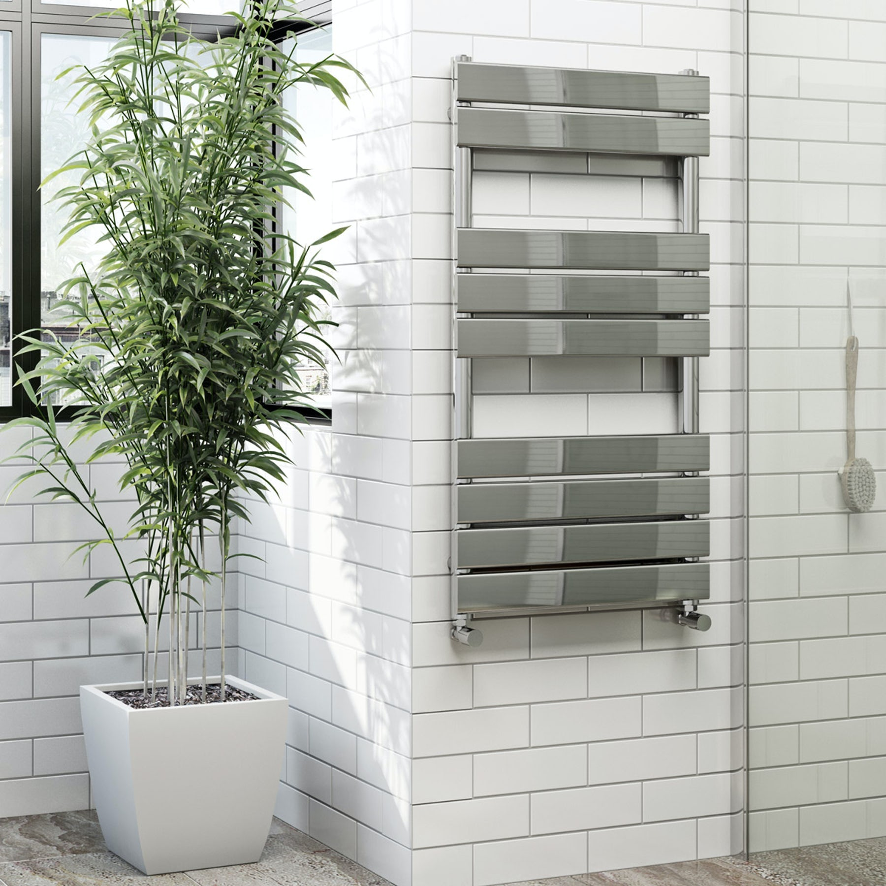 Bathroom heated towel rails at Victoria Plum