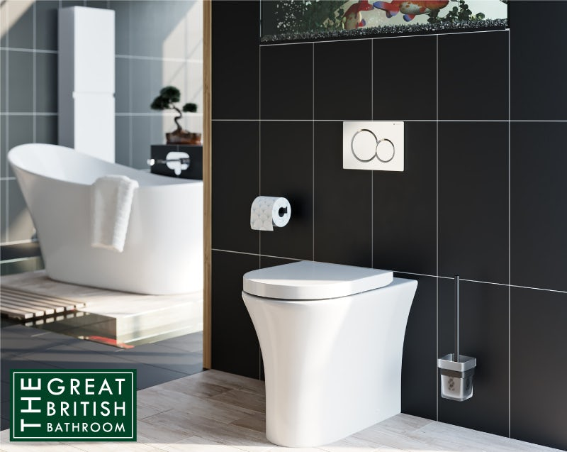 Mode Hardy rimless back to wall toilet with soft close seat and concealed cistern