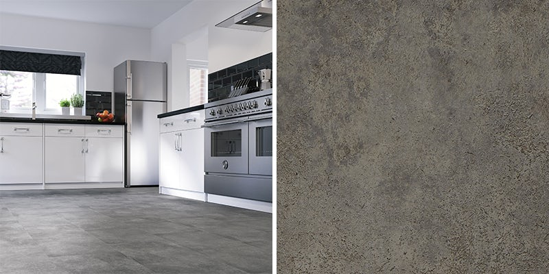 Kitchen walls and floors at Victoria Plum