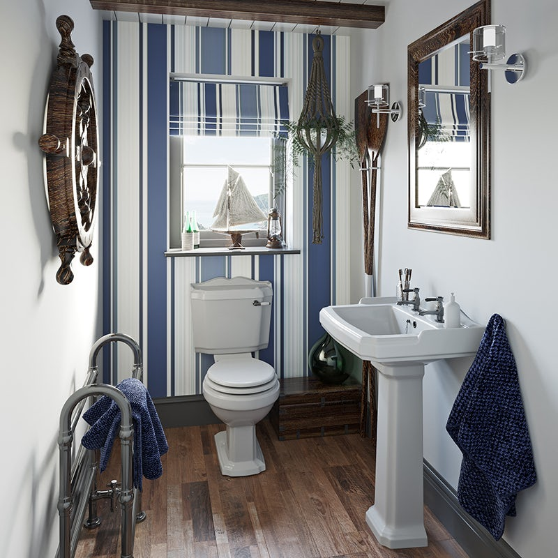 The Harbour small coastal bathroom