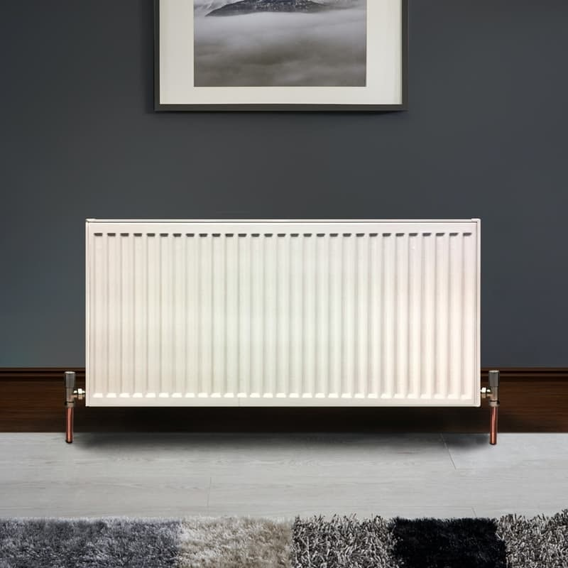 The Heating Co. Type 22 white double convector radiator