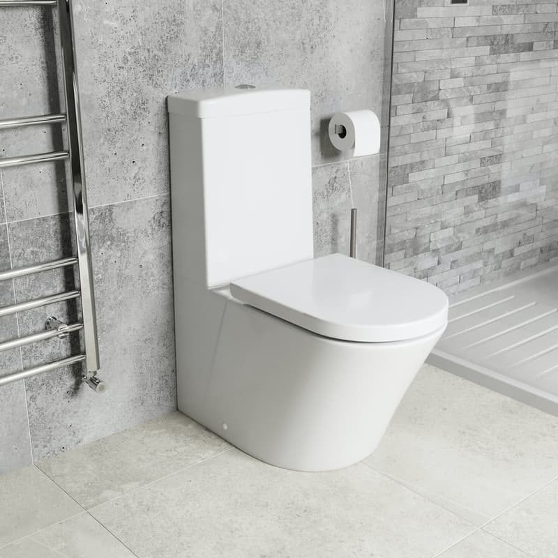 Mode Tate close coupled toilet with luxury soft close toilet seat