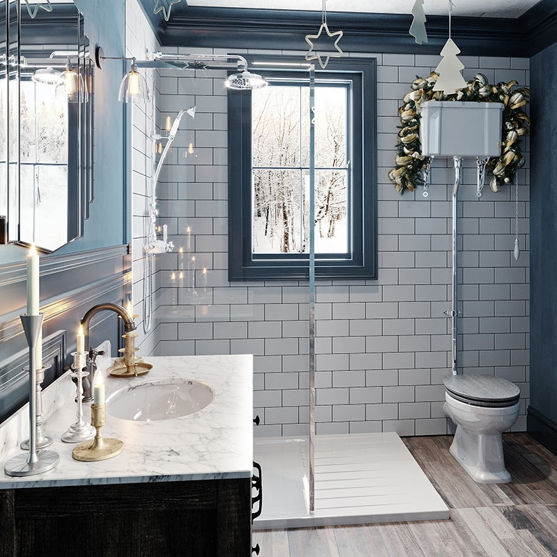 Enchanted Winter ensuite bathroom