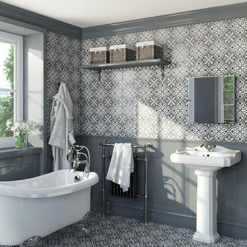 Lucena Elena traditional matt wall and floor tile 450mm x 450mm
