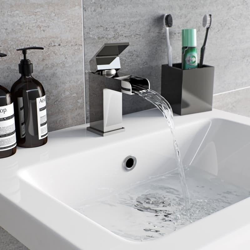 Orchard Derwent waterfall basin mixer tap