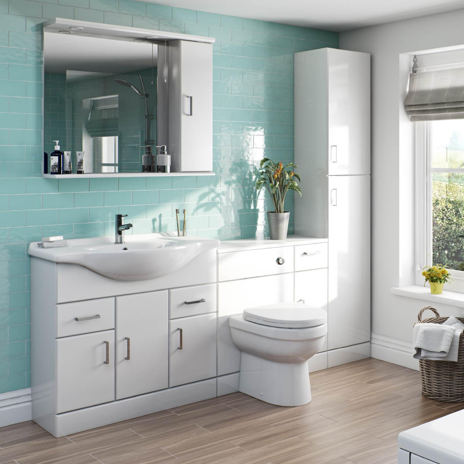 Eden white bathroom furniture range