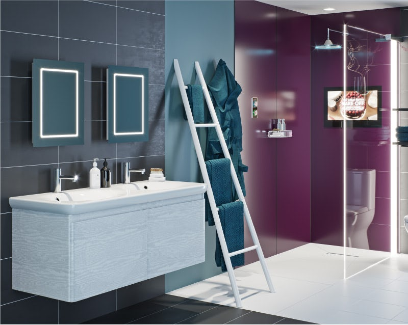 Be Bold with Power-Up bathroom room set