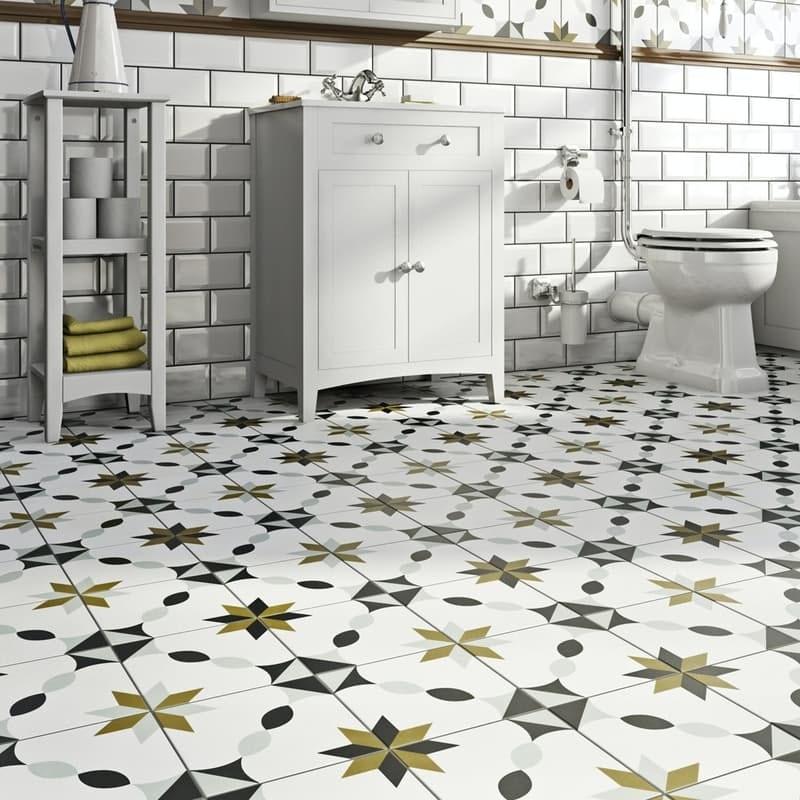 Valencia Fe traditional matt wall and floor tile 200mm x 200mm