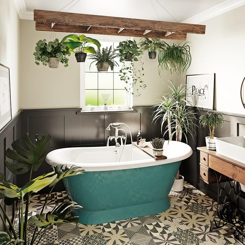Tropical Spa bathroom by Victoria Plum