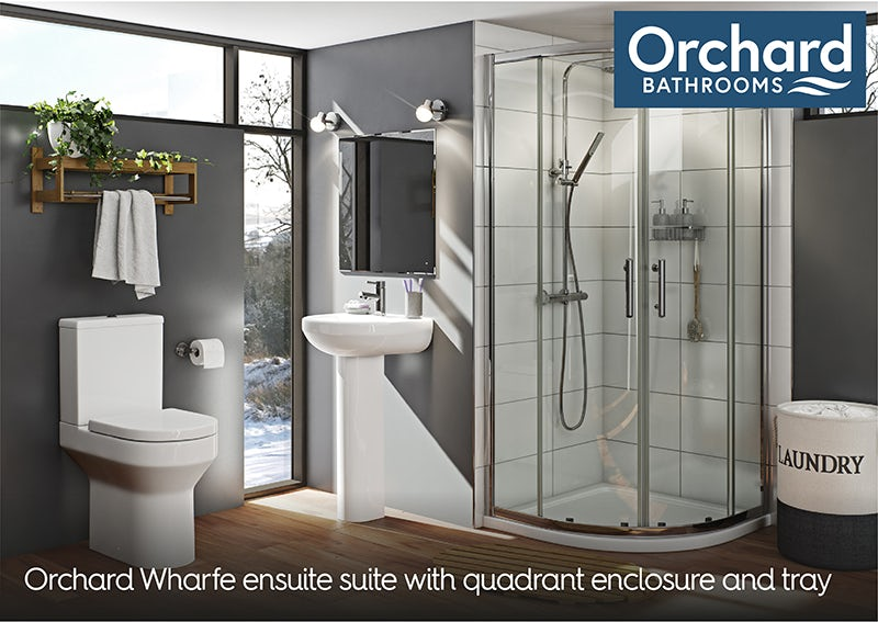 Orchard Wharfe ensuite suite with quadrant enclosure and tray