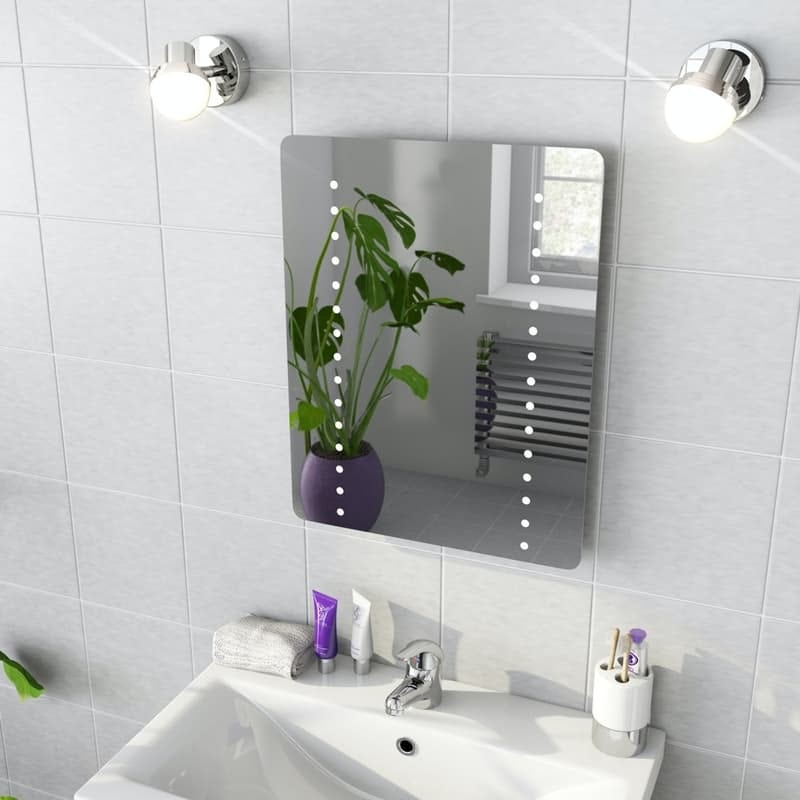 Mode Cass LED illuminated mirror 500 x 390mm with demister