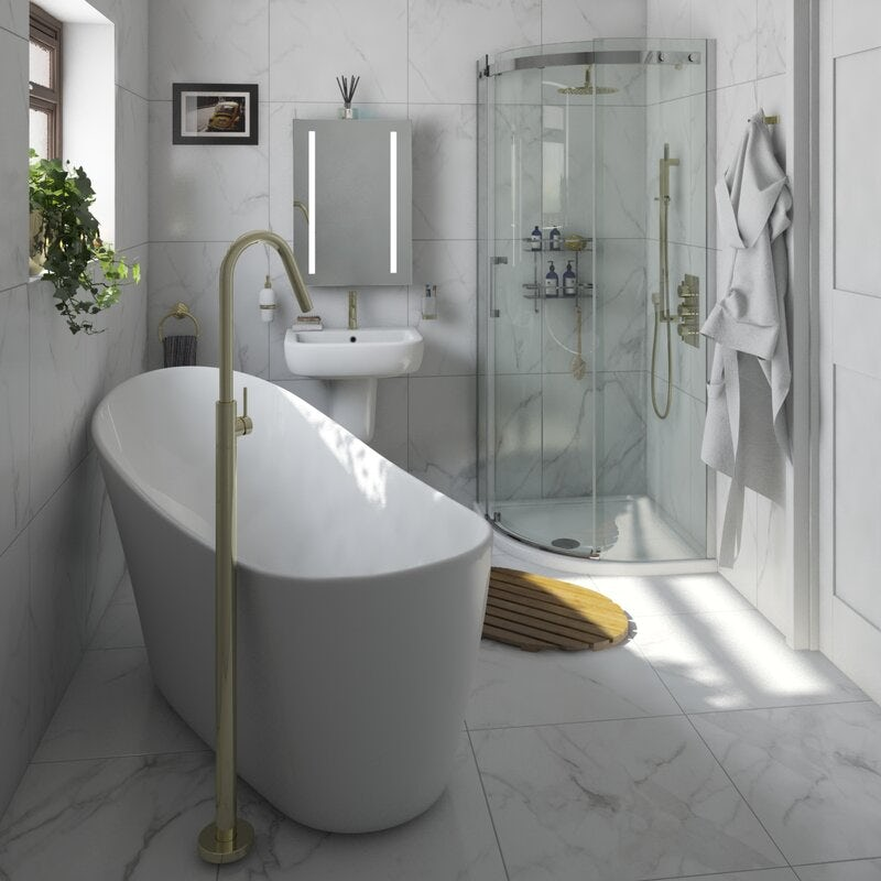 Easy decorating ideas for white bathrooms