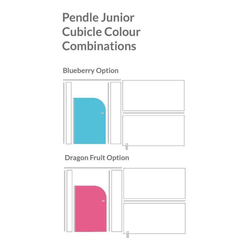 Pendle junior toilet cubicle colour combinations