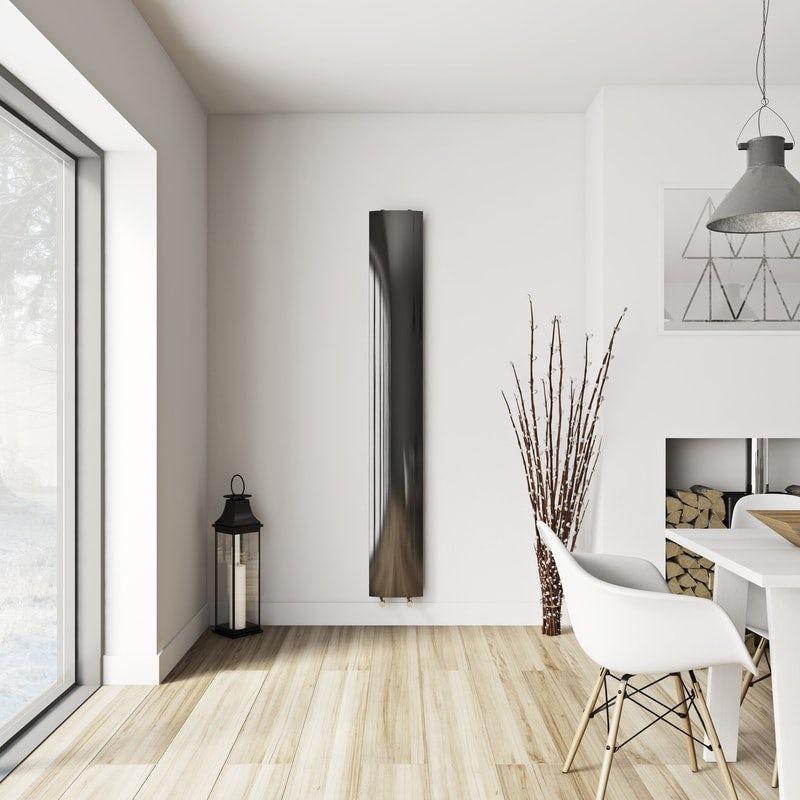 Mode Korlea black vertical radiator 2000 x 280